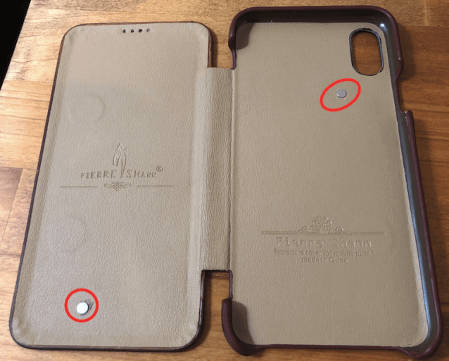 iPhone X/XS/XS Max/11Pro/11Pro Maxの手帳ケースに オートスリープを自作する
